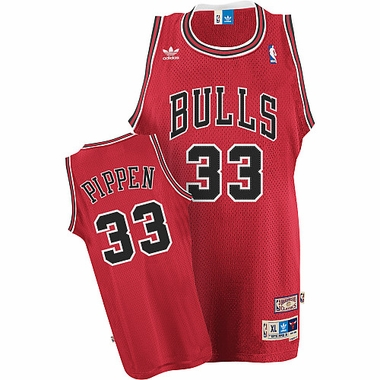 Chicago Bulls Scottie Pippin Team Color Throwback Replica Premiere Jersey
