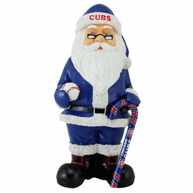 Chicago Cubs 11 Inch Resin Team Santa Figurine