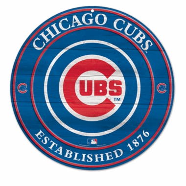 Chicago Cubs 19.75 Inch Wood Sign