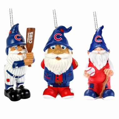 Chicago Cubs 2012 Gnome 3 Pack Ornament Set
