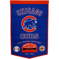 """Chicago Cubs 24""""x36"""" Dynasty Wool Banner"""