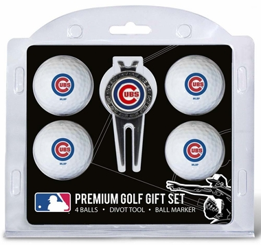 Chicago Cubs 4 Ball and Divot Tool Set