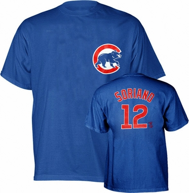 Chicago Cubs Alfonso Soriano Name and Number T-Shirt