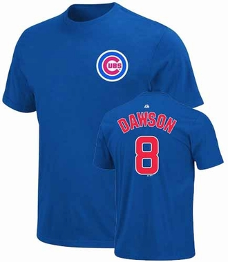Chicago Cubs Andre Dawson Name and Number T-Shirt