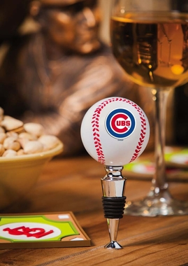 Chicago Cubs Baseball Wine Stopper