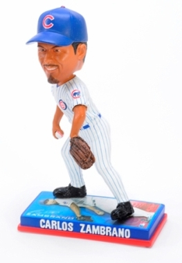 Chicago Cubs Carlos Zambrano 2009 Photo Base Bobblehead Figure