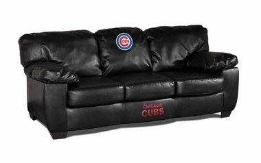 Chicago Cubs Leather Classic Sofa