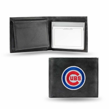 Chicago Cubs Embroidered Leather Bi-Fold Wallet