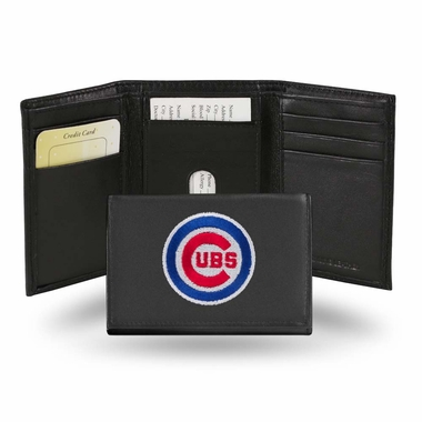 Chicago Cubs Embroidered Leather Tri-Fold Wallet