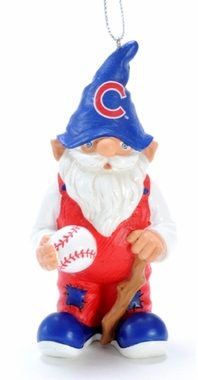 Chicago Cubs Gnome Christmas Ornament
