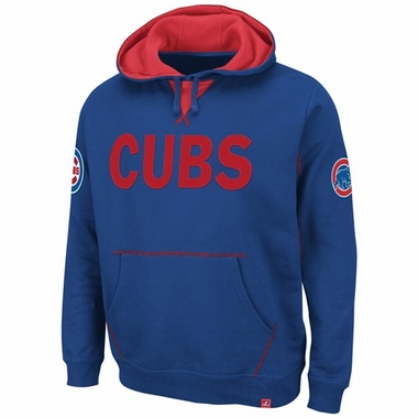 "Chicago Cubs Majestic ""Fly Ball"" Hooded Sweatshirt - Royal"