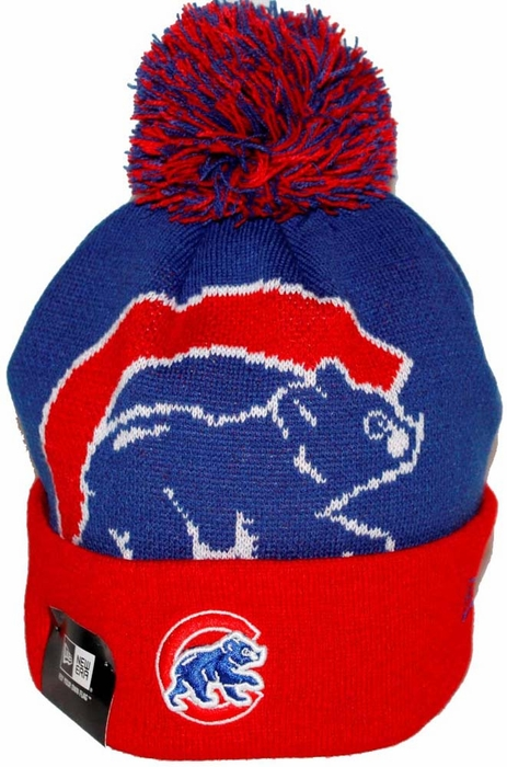 Chicago Cubs New Era Woven Biggie 2 Cuffed Knit Hat 9819a0cefc3