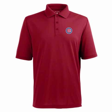 Chicago Cubs Mens Pique Xtra Lite Polo Shirt (Color: Red)