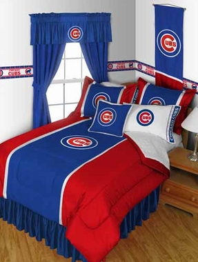 Chicago Cubs SIDELINES Jersey Material Comforter - Twin