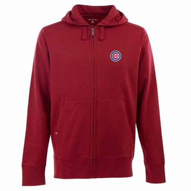 Chicago Cubs Mens Signature Full Zip Hooded Sweatshirt (Color: Red)