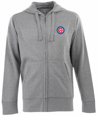 Chicago Cubs Mens Signature Full Zip Hooded Sweatshirt (Color: Gray)