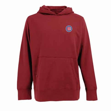 Chicago Cubs Mens Signature Hooded Sweatshirt (Color: Red)