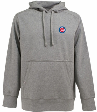 Chicago Cubs Mens Signature Hooded Sweatshirt (Color: Silver)