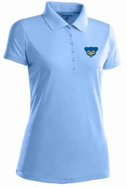 Chicago Cubs Womens Pique Xtra Lite Polo Shirt (Cooperstown) (Color: Aqua)