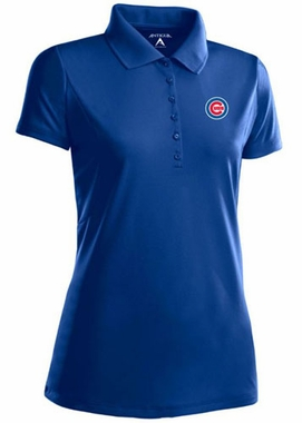Chicago Cubs Womens Pique Xtra Lite Polo Shirt (Color: Blue)