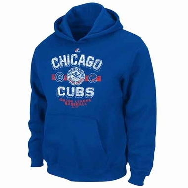 Chicago Cubs YOUTH Clear the Fence Hooded Sweatshirt - Blue