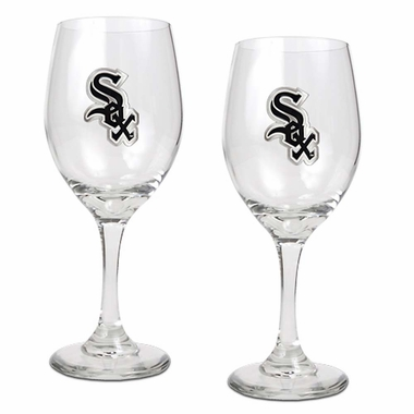 Chicago White Sox 2 Piece Wine Glass Set