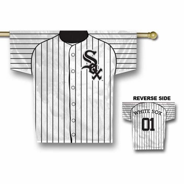 Chicago White Sox 2 Sided Jersey Banner Flag (F)