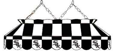 Chicago White Sox 40 Inch Rectangular Stained Glass Billiard Light