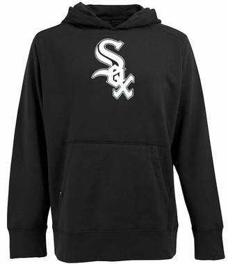 Chicago White Sox Big Logo Mens Signature Hooded Sweatshirt (Color: Black)