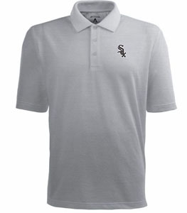 Chicago White Sox Mens Pique Xtra Lite Polo Shirt (Color: Gray) - X-Large