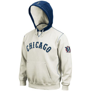 Chicago White Sox Cooperstown Natural Hooded Sweatshirt - Small
