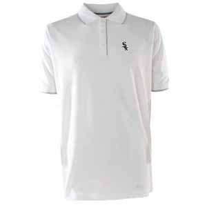 Chicago White Sox Mens Elite Polo Shirt (Color: White) - Small