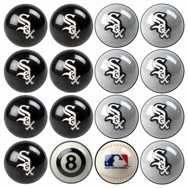 Chicago White Sox Home and Away Complete Billiard Ball Set