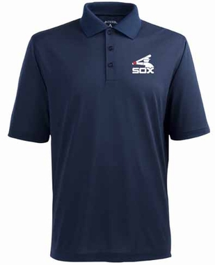 Chicago White Sox Mens Pique Xtra Lite Polo Shirt (Cooperstown) (Color: Navy)