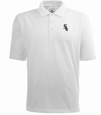 Chicago White Sox Mens Pique Xtra Lite Polo Shirt (Color: White)