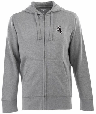 Chicago White Sox Mens Signature Full Zip Hooded Sweatshirt (Color: Gray)