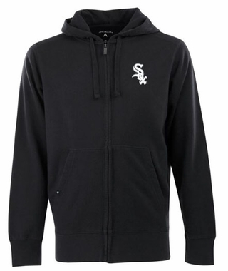 Chicago White Sox Mens Signature Full Zip Hooded Sweatshirt (Color: Black)