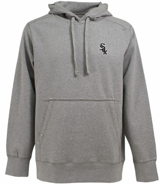 Chicago White Sox Mens Signature Hooded Sweatshirt (Color: Silver)