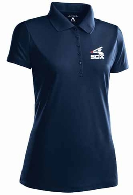 Chicago White Sox Womens Pique Xtra Lite Polo Shirt (Cooperstown) (Color: Navy)