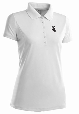 Chicago White Sox Womens Pique Xtra Lite Polo Shirt (Color: White) - Large