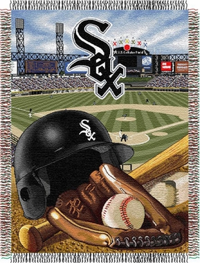 Chicago White Sox Woven Tapestry Throw Blanket