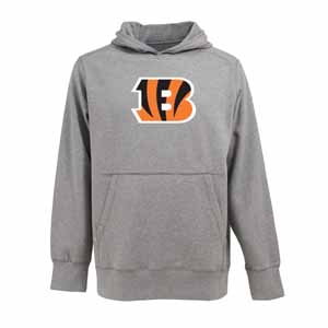 Cincinnati Bengals Big Logo Mens Signature Hooded Sweatshirt (Color: Gray) - Medium
