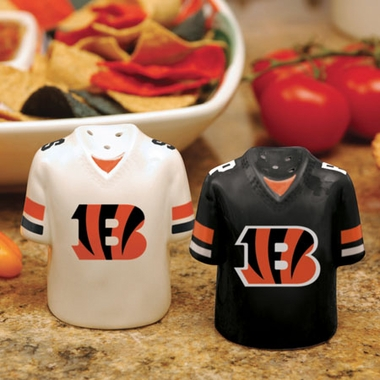 Cincinnati Bengals Ceramic Jersey Salt and Pepper Shakers