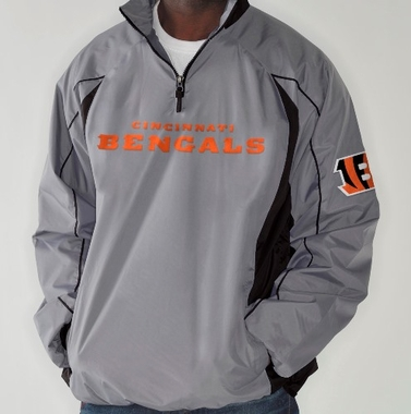 Cincinnati Bengals NFL G-III Fair Catch 1/4 Zip Jacket - Charcoal