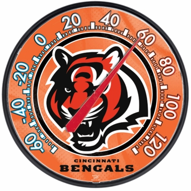 Cincinnati Bengals Round Wall Thermometer