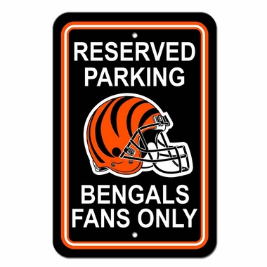 Cincinnati Bengals Plastic Reserved Parking Sign (P)