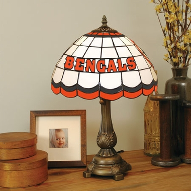 Cincinnati Bengals Stained Glass Table Lamp