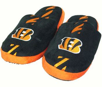 Cincinnati Bengals YOUTH Team Stripe Slide Slippers - Large