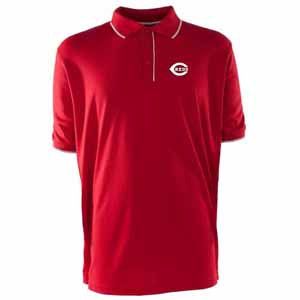 Cincinnati Reds Mens Elite Polo Shirt (Color: Red) - Small