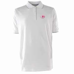 Cincinnati Reds Mens Elite Polo Shirt (Color: White) - Large
